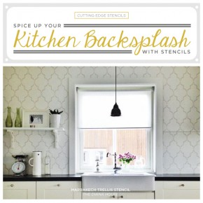 Spice Up Your Kitchen Backsplash With A Stencil