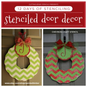12 Days of Stenciling: Stenciled Door Decor