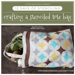 Cutting Edge Stencils shares stenciled tote bag ideas! http://www.cuttingedgestencils.com/craft-furniture-stencils.html