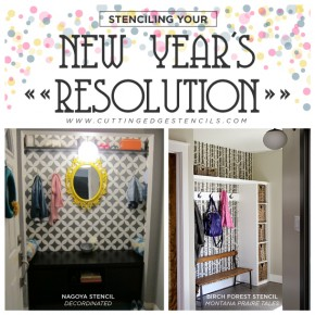 Stenciling Your New Year's Resolution