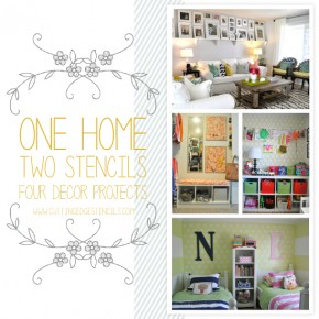 Cutting Edge Stencils shares one home reusing the Moroccan Dream Stencil on multiple home decor projects. http://www.cuttingedgestencils.com/moroccan-stencil-design.html