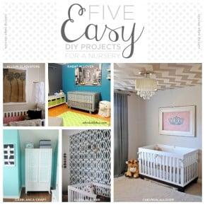 Cutting Edge Stencils shares five easy DIY projects for a nursery. http://www.cuttingedgestencils.com/nursery-stencils-walls.html