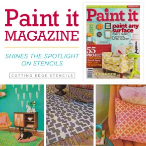 Paint It Magazine features Cutting Edge Stencils in it's stencil projects. http://www.cuttingedgestencils.com/wall-stencils-stencil-designs.html