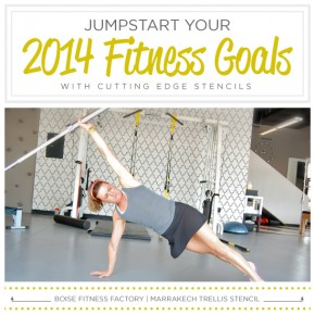 Jumpstart Your 2014 Fitness Goals Using Stencils