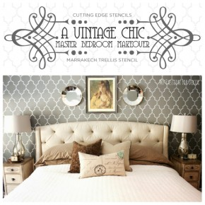 A Vintage Chic Master Bedroom Makeover