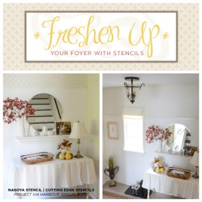 Freshen Your Foyer With Stencils