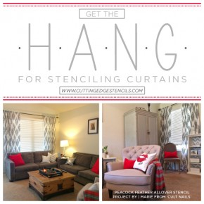 Get the Hang For Stenciling Curtains