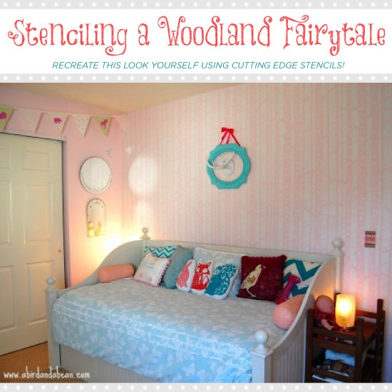 Woodland Themed Bedroom Stenciling A Fairytale