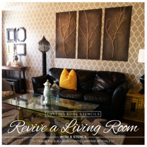 Revive A Living Room With A Stencil
