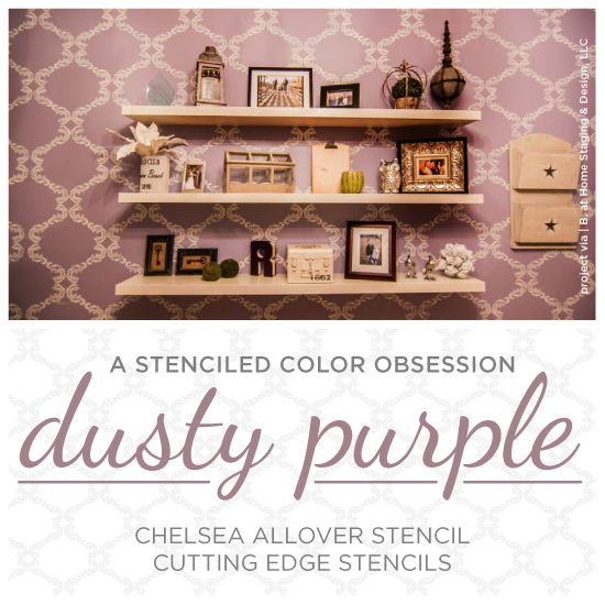diy wall decor with pictures.htm chelsea stencil diy stenciled office accent wall purple stencil  chelsea stencil diy stenciled office