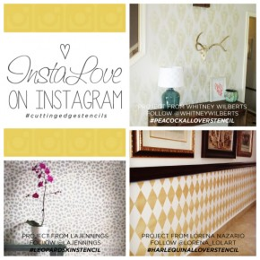 Cutting Edge Stencils shares DIY stenciled accent wall ideas found on Instagram. http://www.cuttingedgestencils.com/wall-stencils-stencil-designs.html