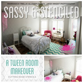 Sassy and Stenciled: A Tween Room Makeover