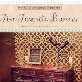Stenciling with Benjamin Moore's Five Favorite Browns