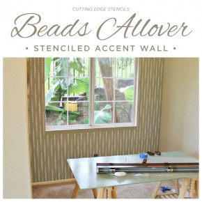 A Beads Allover Stenciled Accent Wall
