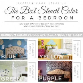 Cutting Edge Stencils shares the best stencil colors for a bedroom! http://www.cuttingedgestencils.com/wall-stencils-stencil-designs.html