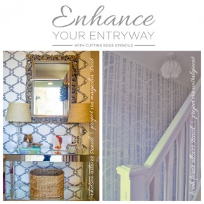 Enhance Entryway With Stencils