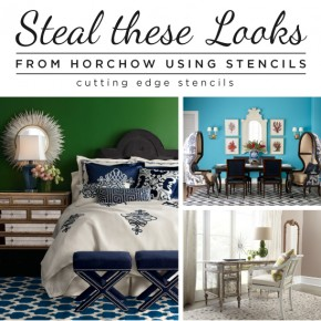 Steal These Looks From Horchow Using Stencils