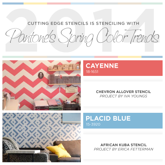 stenciling with pantone s 2014 spring color trends