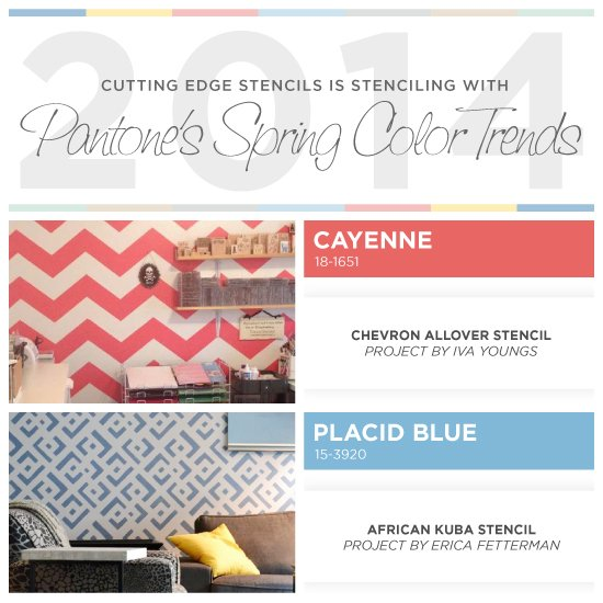 Stenciling With Pantone's 2014 Spring Color Trends