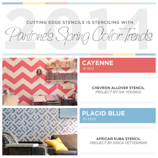 Stenciling With Pantones 2014 Spring Color Trends