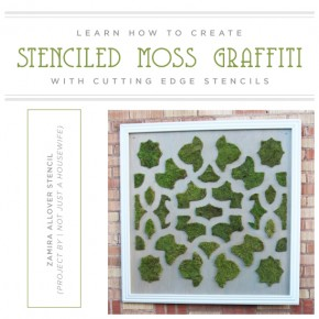 Learn How to Create Stenciled Moss Graffiti