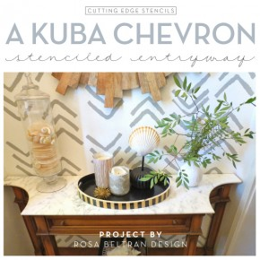 A Kuba Chevron Stenciled Entryway