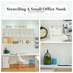 Stenciling An Office Nook With The Trellis Allover
