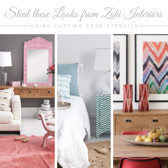 Home Design Ideas Blog: Steal These Looks From Zohi Interiors Using Stencils