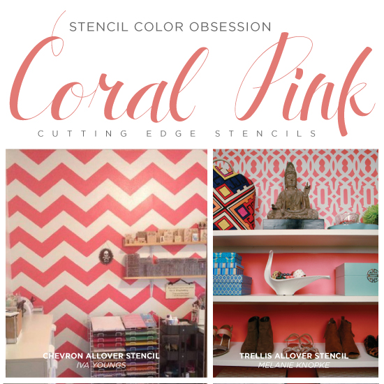 Coral Colored Home Decor Articles At Stencil Stories