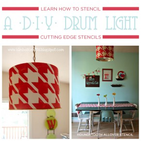 Learn How To Stencil A DIY Drum Light