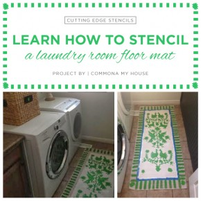 Learn How To Stencil A Laundry Room Floor Mat