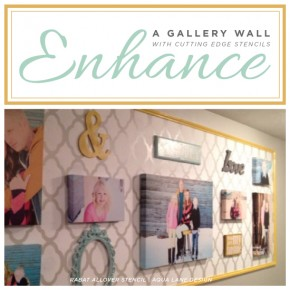 Enhance A Gallery Wall With Stencils
