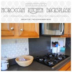 Stenciling A Moroccan Kitchen Backsplash