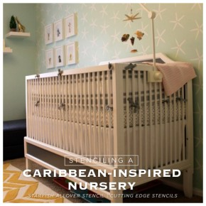 Stenciling A Caribbean-Inspired Nursery