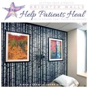 Rooms that Rock 4 Chemo stencils hospital rooms. http://www.cuttingedgestencils.com/allover-stencil-birch-forest.html