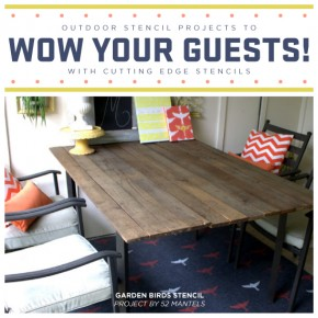Outdoor Stencil Projects To WOW Your Guests! A DIY Stenciled Rug ...