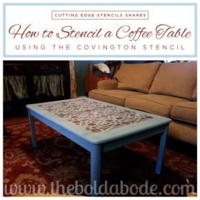 DIY Stenciled table tutorial using the Covington Stencil. http://www.cuttingedgestencils.com/stencil-stencils-covington.html