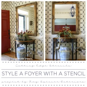 Style A Foyer With A Stencil