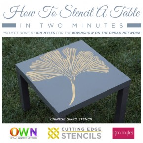 How To Stencil A Table in Two Minutes