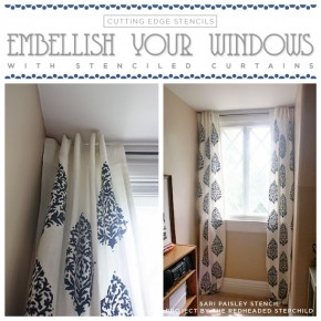 Embellish Your Windows With Stenciled Curtains
