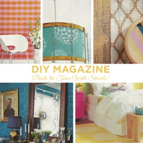 DIY Magazine Paints the Town With Stencils!