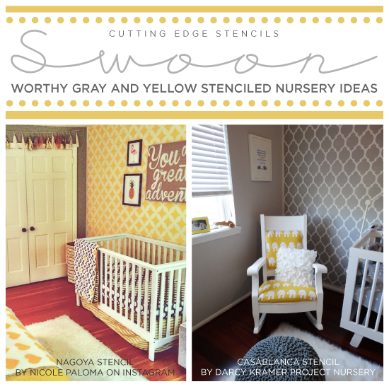 Yellow Stenciled Accent Wall\' Articles at Stencil Stories