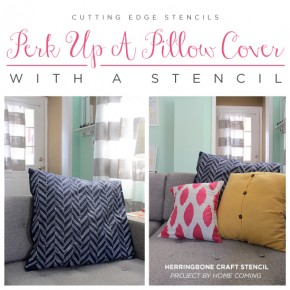 Perk Up A Pillow Cover With A Stencil