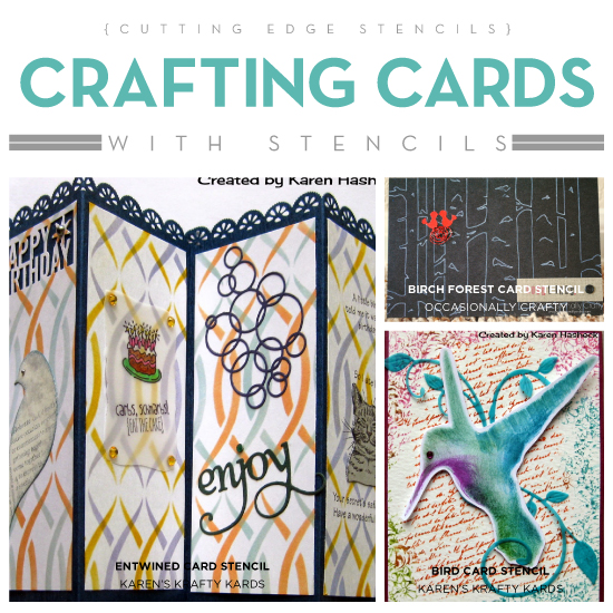 crafting cards with stencils