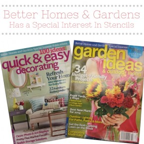 Better Homes & Gardens Has a Special Interest In Stencils