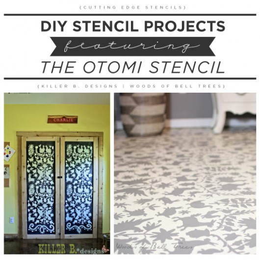 Cutting Edge Stencils shares DIY Otomi stencil projects. http://www.cuttingedgestencils.com/otomi-tribal-wall-pattern-stencil.html