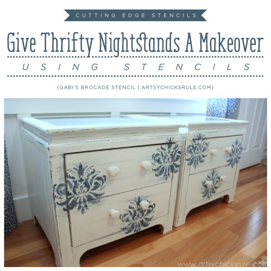 Give Thrifty Nightstands A Makeover Using Stencils