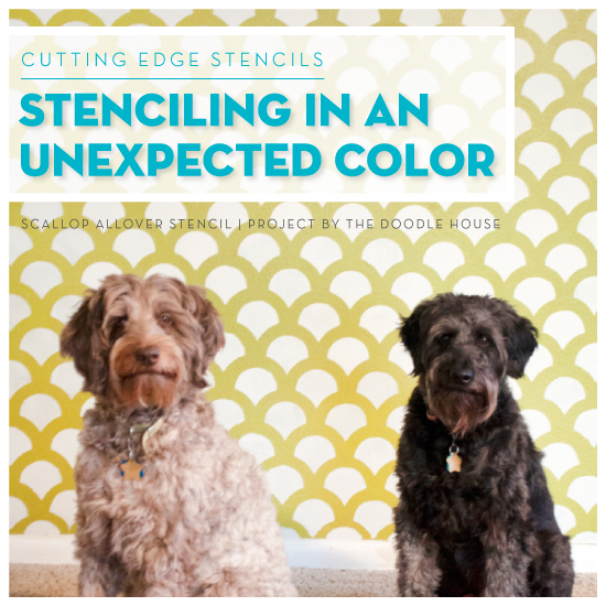 Stenciling In An Unexpected Color