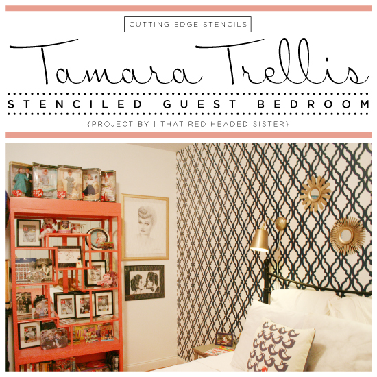 A Tamara Trellis Stenciled Guest Bedroom