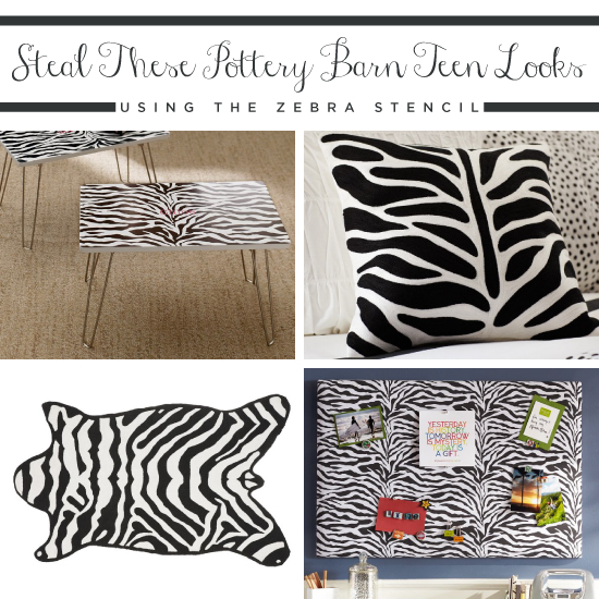 Steal These Pottery Barn Teen Looks Using the Zebra Stencil
